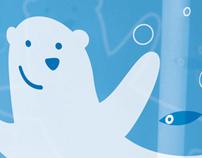 Polar bear water glass for Ritzenhoff