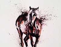 watercolor horse