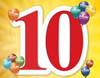 Campanha de Aniversário Primato - 10 anos