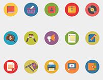 Web Flat Icons Set