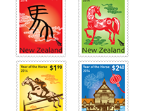 2014 Year of the Horse Stamp Collection