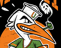 MIami Hurricanes T-Shirt Design
