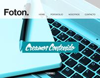 FOTON. - Propuesta Diseño Website