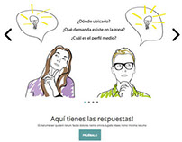"Langing page for ""dondeemprendo"""