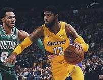 Paul George LA Lakers Jersey Swap - Justin Carlyle