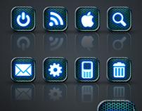 Neon Glow App Icon Set