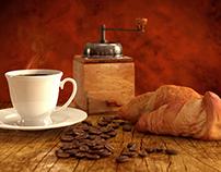 3D coffee breakfast