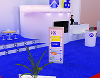 3D stand : internet banking services (virtual company)