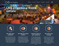 PSD Template for Video Streaming Website