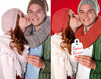 Photoshop Retouch + Artwork Christmas couple Emiclaer