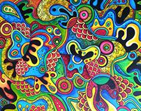 Acrylic + Doodle on Canvas