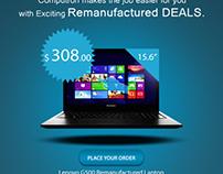 Save BIG on Lenovo Laptops! Web banner
