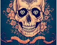Skull with diamond eyes