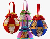 Kimekomi Christmas balls