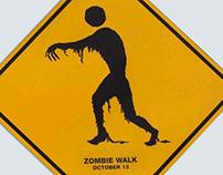 Zombie Walk street signs