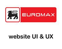 Euromax website - User Interface