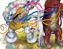 Illustration for the 5. anniversary, Initiative Musik