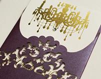 Stationery design: Lasercut wedding invitation