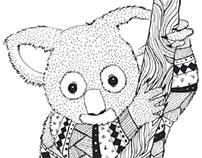 Ilustraciones Animales con patrones geométricos