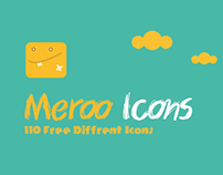 MEROO ICONS-110 FREE PSD ICONS