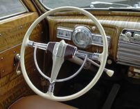 Classic car interiors of the 30s and 40s