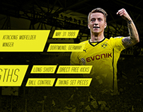 Marco Reus Infographic Wallpaper