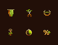 Icons for textile company