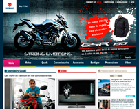 suzuki moto home - redesign