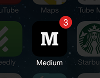 Medium.com - App Design