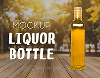 Liquor Bottle - Free PSD Mockup