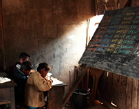 People in a mountain village. Burma.