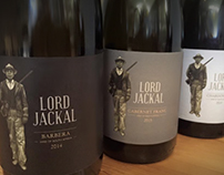 Lord Jackal Wine label for Jakkalsvlei Vineyards