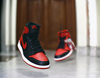 #WhatTheLevitation - Jordan 1 Hi OG Bred & Gym Red Mid