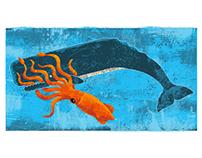 Squid vs. Whale - Art Print