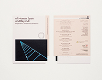 of Human Scale and Beyond - Invitation card