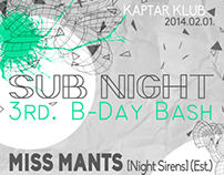 sub NIGHT 3rd. B-Day Bash