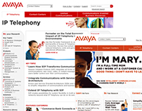 AVAYA - Infrastructure and web redesign