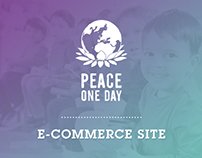 Peace One Day / E-Commerce Site