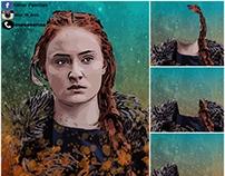 "Portraits 1 "" digital paintings """