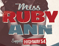Flyer for Ruby Ann @ Tolhuis, Amsterdam The Netherlands