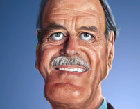 Caricature of John Cleese