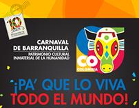 Infografía Carnaval de Barranquilla - Marca Colombia