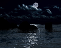 Sea Landscape at Night
