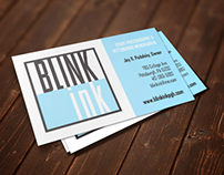 Blink Ink Logo, Website, & Poster Design