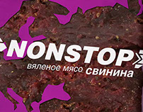 nonstop. meat snacks' branding and packaging
