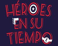 SUPER HÉROES EN SU TIEMPO LIBRE. Lettering
