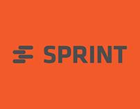 Logo Sprint. Сделано в студии Playdesign.