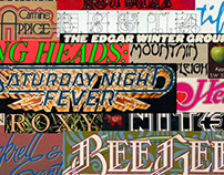 A Study: Album Cover Typography & Artwork: 1970s
