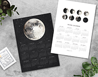 Freebie Printable-2017 MOON CALENDAR