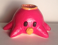 toy squid candle holder